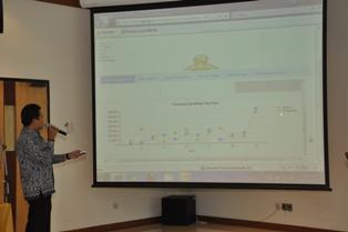 Gambar 5. LO IT BPK menjelaskan aplikasi e-audit
