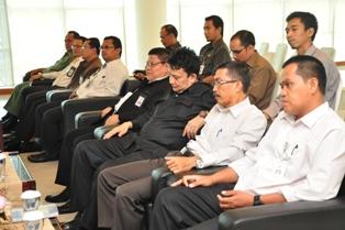 Gambar 3. Jajaran Pejabat struktural dan fungsional BPK dan Pemkab Nunukan turut menghadiri acara tersebut