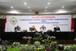 Pembukaan acara Rakor Pembahasan Tindak Lanjut oleh Walikota Balikpapan