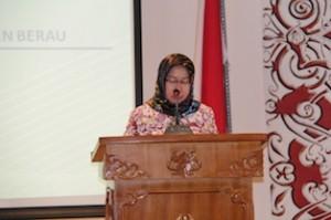 Gambar 3. Wakil Ketua DPRD Kab. Berau menyampaikan pidatonya